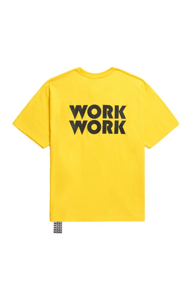 WORKWORK LOGO SHORT T-SHIRTS YELLOW