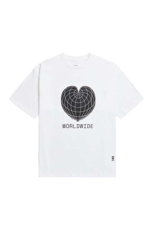 ♥ WORLDWIDE SHORT T-SHIRTS WHITE