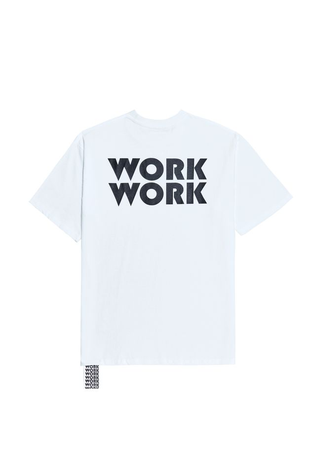 WORKWORK LOGO T-SHIRTS WHITE