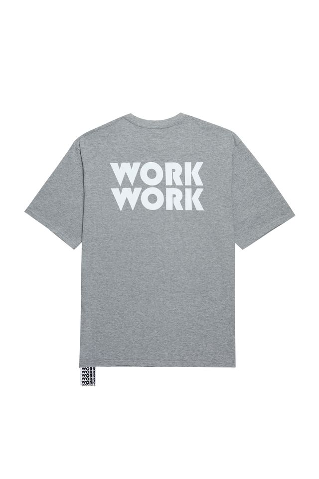 WORKWORK LOGO T-SHIRTS GRAY