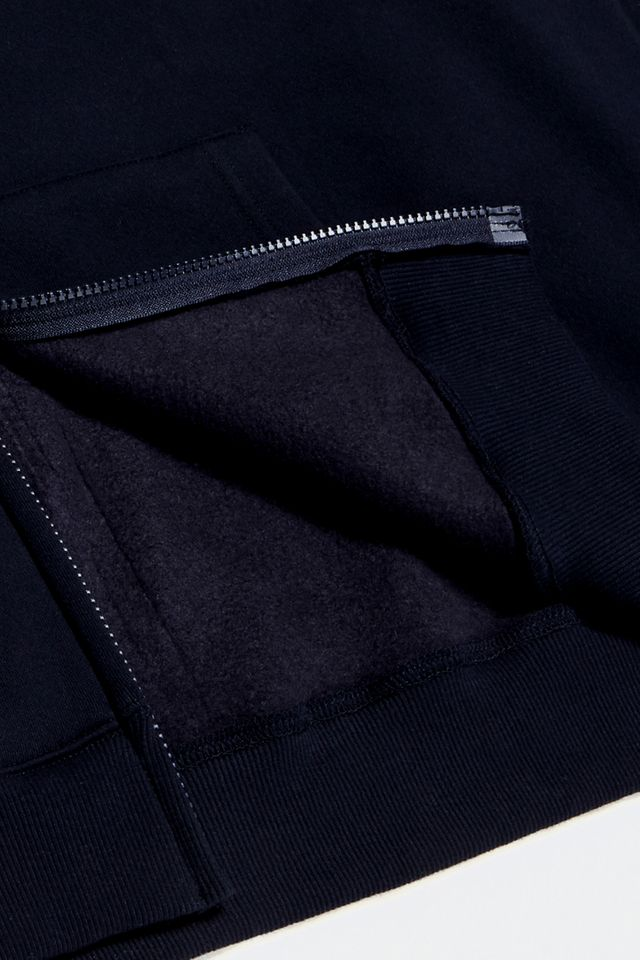 WORKWORK LOGO HOOD ZIP-UP NAVY